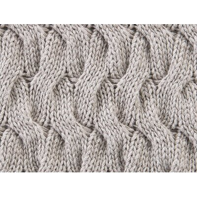 Majorca Squiggle Cable Cotton Throw Color: Linen