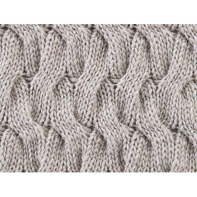 Majorca Squiggle Cotton Throw Pillow Color: Linen