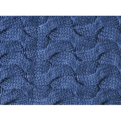 Majorca Squiggle Cotton Throw Pillow Color: NAVY