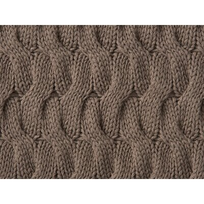 Majorca Squiggle Cable Cotton Throw Color: DRIFTWOOD