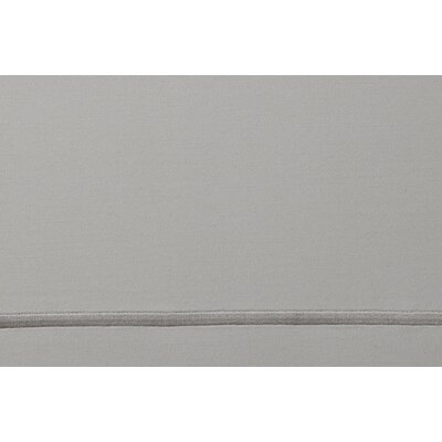 Soprano 420 Thread Count Egyptian-Quality Cotton Flat Sheet Size: King, Color: Platinum