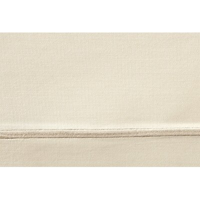 Soprano 420 Thread Count Egyptian-Quality Cotton Flat Sheet Size: Queen, Color: Linen