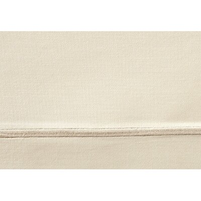 Soprano 420 Thread Count Egyptian-Quality Cotton Fitted Sheet Size: Full, Color: Linen