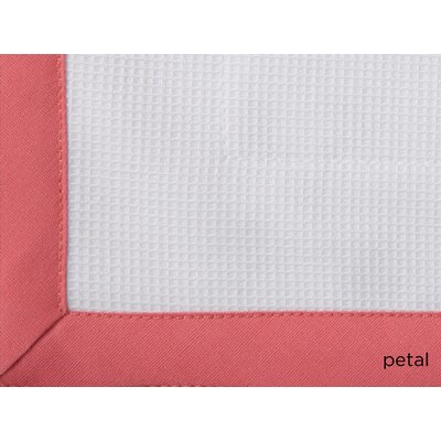 Pique Tailored Cotton Coverlet Color: Petal, Size: King
