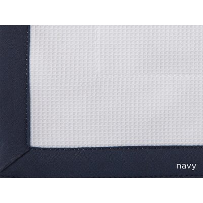 Tailored Pique Cotton Shower Curtain Color: Navy