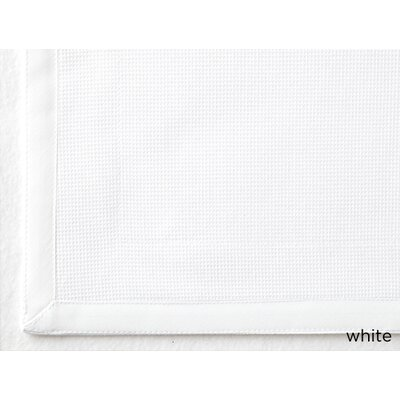 Tailored Pique Cotton Shower Curtain Color: White