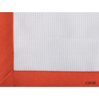 Pique Tailored Cotton Coverlet Size: King, Color: Coral