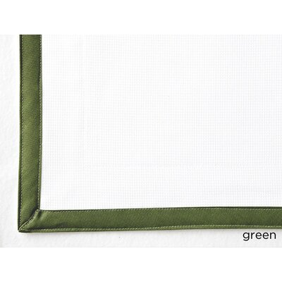 Pique Tailored Sham Size: Euro, Color: Green
