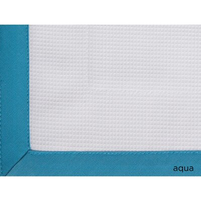 Tailored Pique Cotton Shower Curtain Color: Aqua