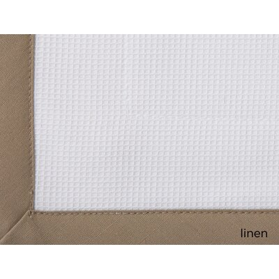 Pique Cotton Bed Rest Pillow Color: Linen