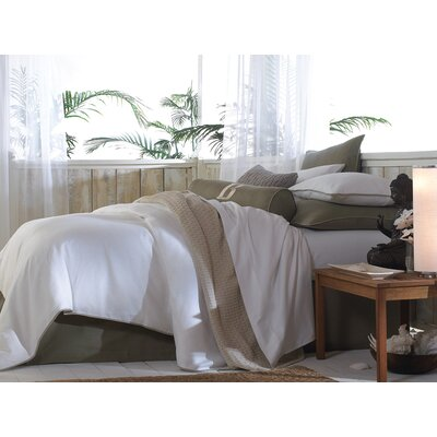 Mandalay Paneled Bed Skirt Size: King, Color: Pearl