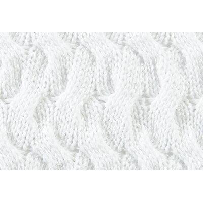 Majorca Squiggle Cotton Throw Pillow Color: White