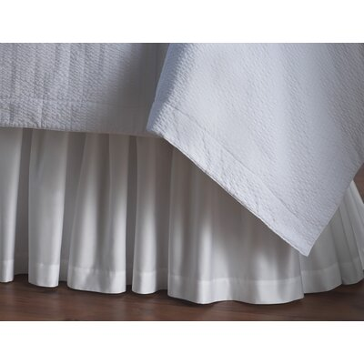 Soprano 420 Thread Count Bed Skirt Size: Full, Color: White