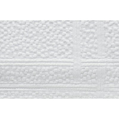 Montauk Paneled Bed Skirt Size: King, Color: White