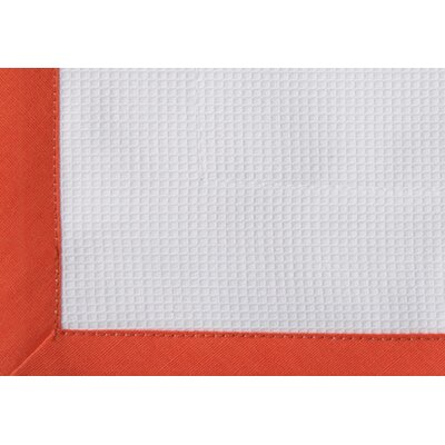 Pique Tailored Cotton Bed Skirt Color: Coral, Size: Queen