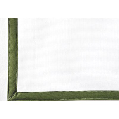 Pique Tailored Cotton Bed Skirt Color: Green, Size: King