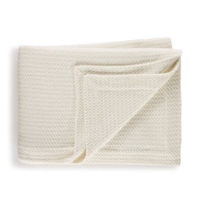 Estrela Wool/Cotton Blanket Size: King, Color: Pearl
