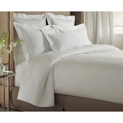 Alyssa Tailored Coverlet Size: California King, Color: White