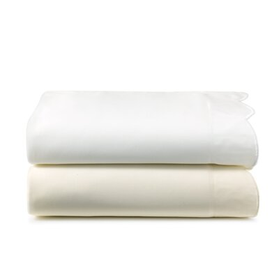 Overture 300 Thread Count Egyptian-Quality Cotton Fitted Sheet Size: Queen, Color: White