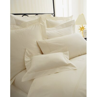Lyric Tailored Sham Size: Euro, Color: Ivory