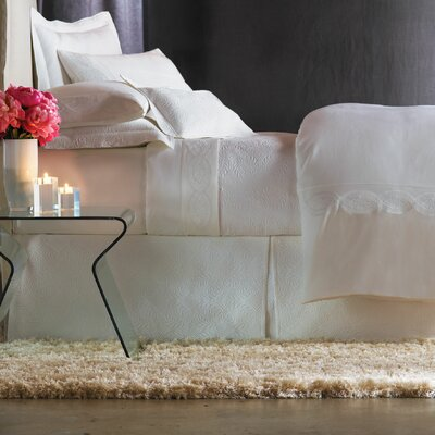 Signature Vienna Panel Bed Skirt Size: California King, Color: White
