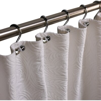 Vienna Cotton Shower Curtain Color: Ecru