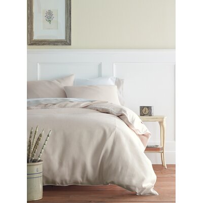 Mandalay Down and Feathers Pillow Color: Linen/Navy