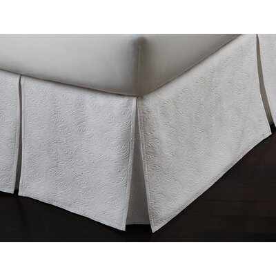 Signature Vienna Panel Bed Skirt Color: White, Size: California King