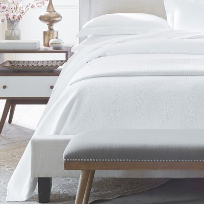 Montauk Coverlet Size: California King, Color: White