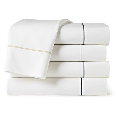 Boutique 200 Thread Count 100% Cotton Flat Sheet Size: Twin XL Fitted, Color: White