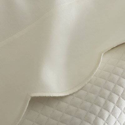 Overture 300 Thread Count Egyptian-Quality Cotton Flat Sheet Size: Queen, Color: Ivory