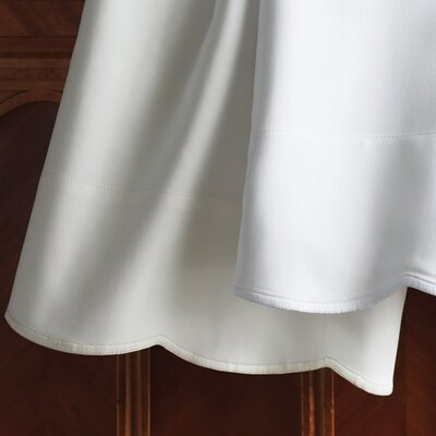 Overture 300 Thread Count Fitted Sheet Size: Twin, Color: White