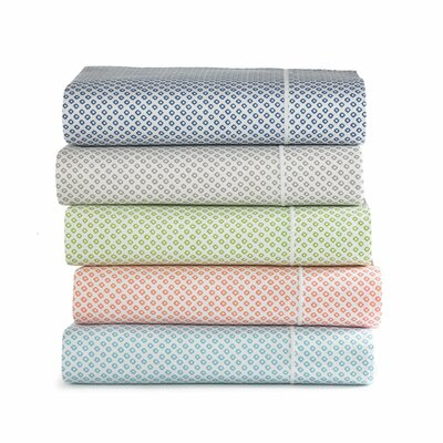 Emma 300 Thread Count Egyptian Quality Cotton Fitted Sheet Size: Twin, Color: Aqua