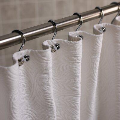 Vienna Cotton Shower Curtain Color: Ecru