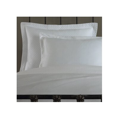 Oxford Tailored Hem European Sham Color: White