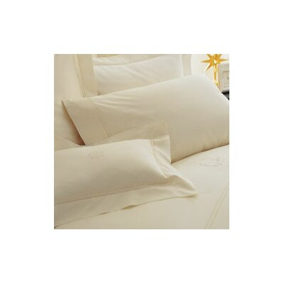 Lyric Pillowcase Size: King, Color: White