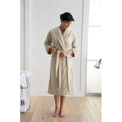 Plush Bathrobe Size: Large/XL, Color: Linen