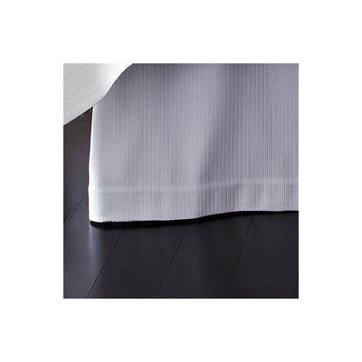 Angelina Bed Skirt Color: White, Size: King