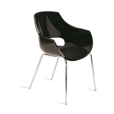 Opal Arm Chair (Set of 4) Finish: Black