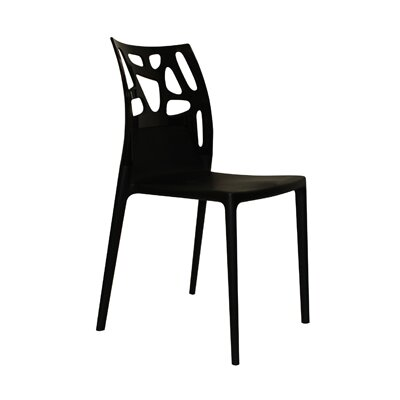 Ego-Rock Side Chair (Set of 4) Finish: Black Seat, Black Back