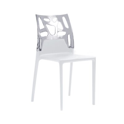 Ego-Rock Side Chair (Set of 4) Finish: White Seat, Transparent Back