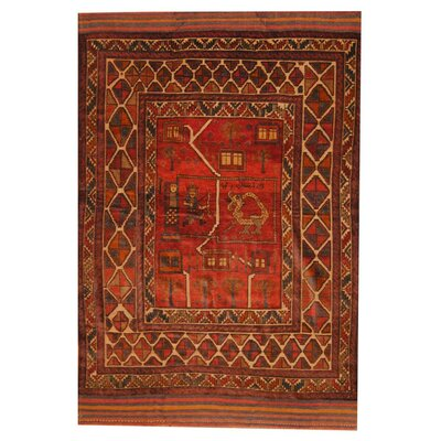 Balouchi Rust/Beige Indoor/Outdoor Area Rug