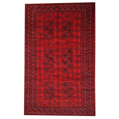 Balouchi Red/Black Area Rug
