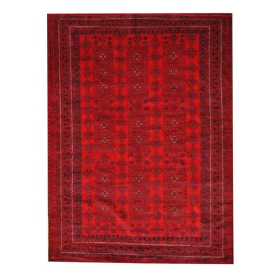 Balouchi Red/Black Indoor Area Rug