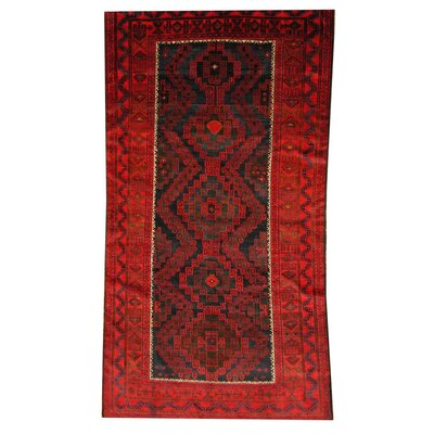 Balouchi Black/Red Area Rug