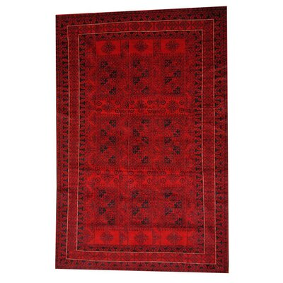 Balouchi Red/Black Indoor/Outdoor Area Rug