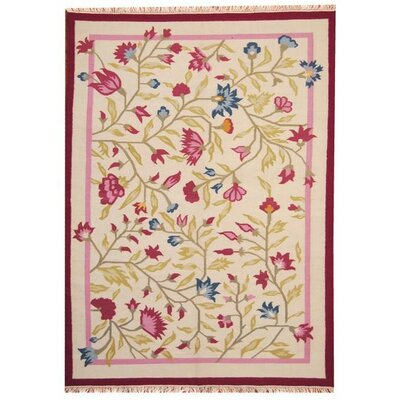 Hand-Woven Pink Area Rug