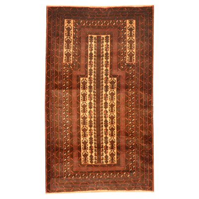 Balouchi Hand-Knotted Ivory/Red Area Rug