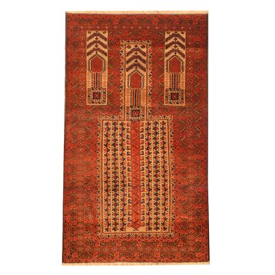 Balouchi Hand-Knotted Beige/Red Area Rug