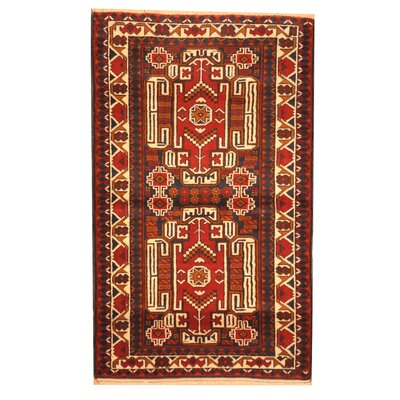 Balouchi Hand-Knotted Burgundy/Rust Area Rug